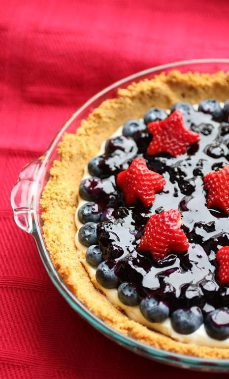 Red White and Blueberry Sour Cream Tarte | Learning to Cook | Pintere ...