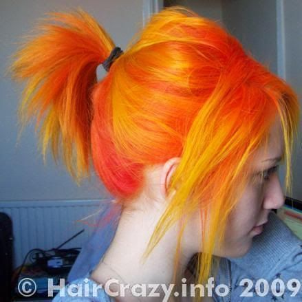 special effects napalm orange coloured hair pinterest