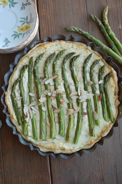 Rustic Dutch Rosemary Asparagus Pie | Gail | Pinterest
