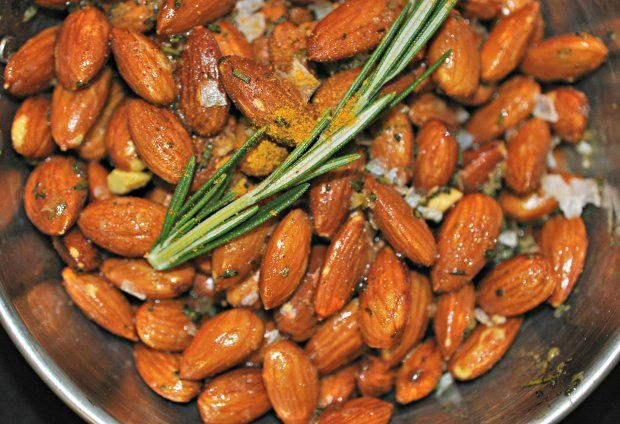 These toasty fried almonds absorb curry and rosemary-infused butter ...