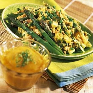 Curried Crab Salad with Mango-Mojo Sauce | Kitchen and Baking | Pinte ...
