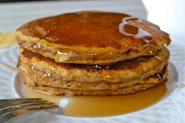Whole Wheat Pumpkin Pancakes - I made these for my 8 month old ...