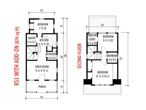 B53 tumbleweed joy studio design gallery best design for Tumbleweed floor plans