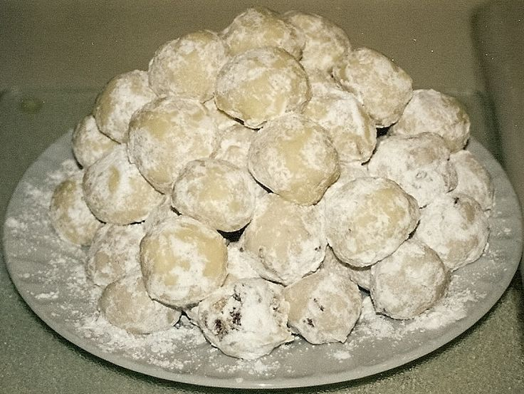 Snowball Cookies with Walnuts Recipe | Snowball Cookies-My aunt makes ...
