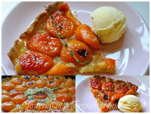 Tarte aux abricots et au thym (Thyme and apricot tart) | Journal of a ...
