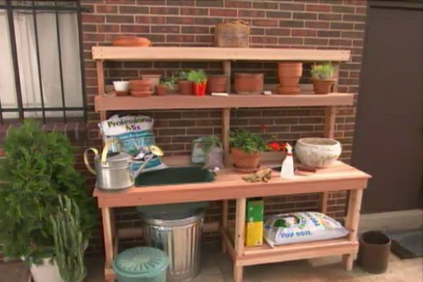 How To Build A Garden Potting Bench Diy Outdoor Projects Pinterest