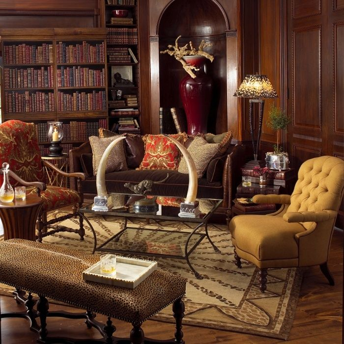 British Colonial Style Library When At Home Pinterest