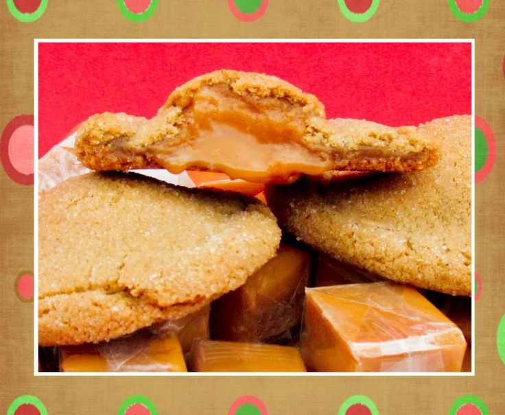 Ginger cookies with a soft caramel center - I'll try to veganize