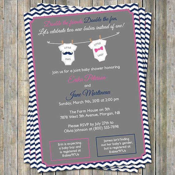 Joint Baby Shower Invitations was very inspiring ideas you may choose for invitation ideas