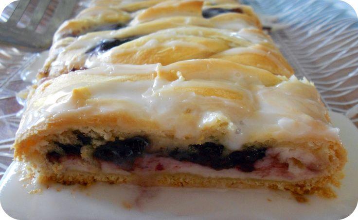 Easy Blackberry and Cream Cheese Danish..uses pillsbury cresent rolls ...