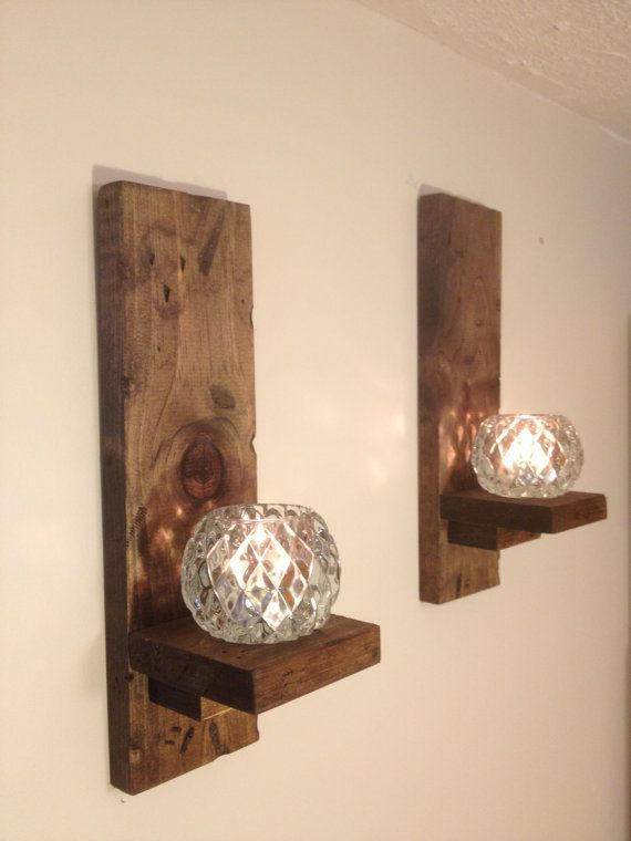 Wall Sconces Etsy : Wall Sconces Rustic (pair)