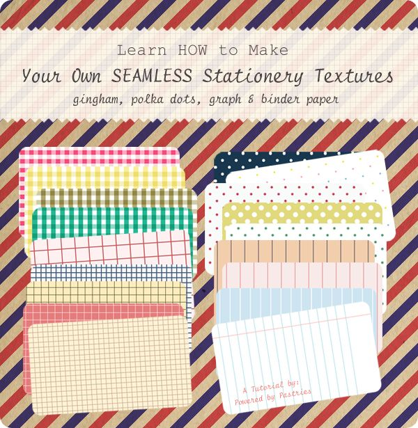 How to Make Your Own Stationery Textures