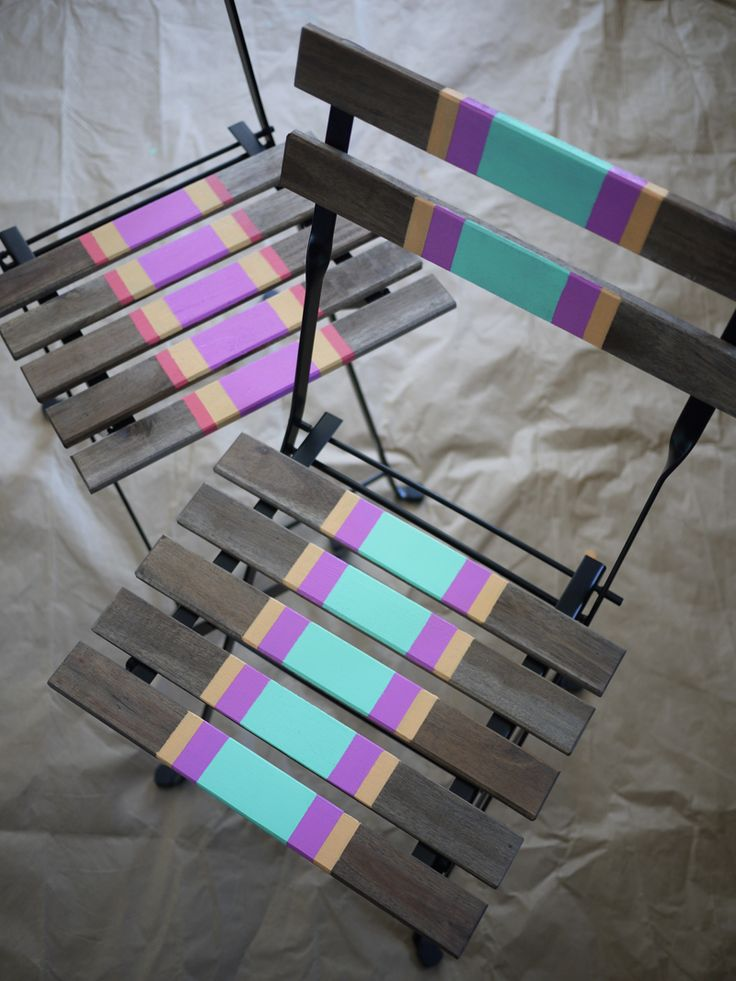 DIY Striped Chairs - fun furniture for #summer and #spring events