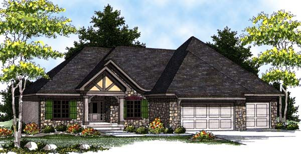 Country craftsman ranch house plan 73316 for Country craftsman home plans