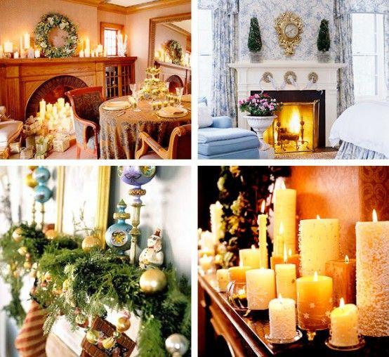 33 Mantel Christmas Decorations Ideas | decorations | Pinterest