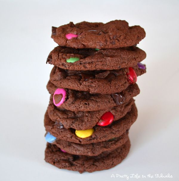 Chocolate chocolate chip cookies - I just made these for the preschool ...