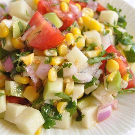 Festive Chayote Salad | Salads | Pinterest