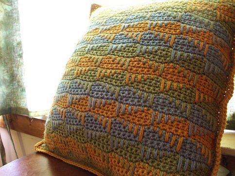 Crocheted Travel Pillow | AllFreeCrochet.com