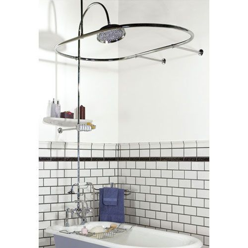 deck mount hotel style conversion kit with hand shower