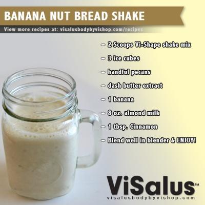Banana Nut Bread Shake | Weight Reduction | Pinterest