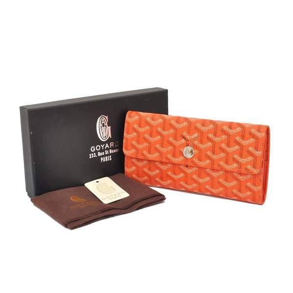 Cheap Goyard Wallets 20836 Orange Cheap   Authentic Goyard Bags Online