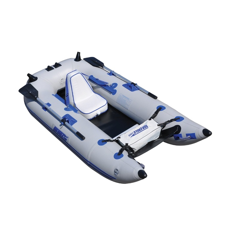 Sea eagle boats 285fpbk d frameless deluxe inflatable for Inflatable fly fishing boats