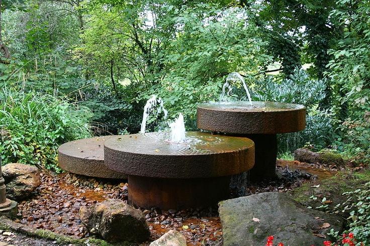 fountain outdoor kitchen and garden ideas pinterest