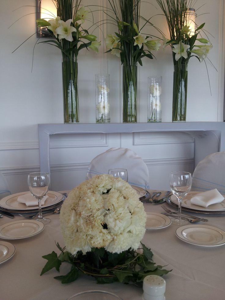 Centros de mesa para boda ramo con flores artificiales for Centros de mesa artificiales