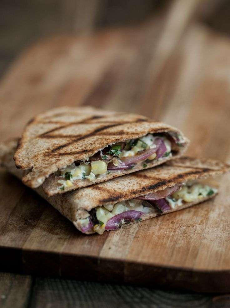 Grilled Corn, Onion, and Whipped Cilantro Goat Cheese Quesadilla | Re ...