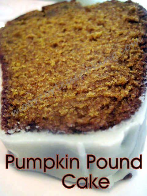 Pumpkin Pound Cake with a Maple Glaze | Desserts | Pinterest