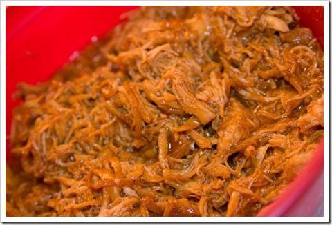 Gitzengirl's super easy crockpot BBQ shredded chicken