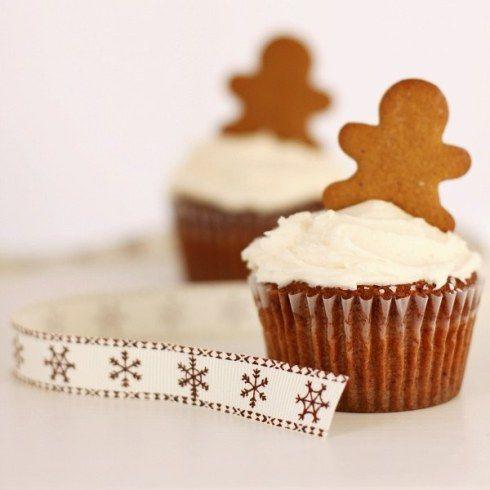 Mini gingerbread men cupcakes | Fall Recipes | Pinterest