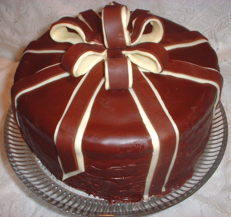 Spiced Chocolate Torte Wrapped in Chocolate Ribbons from Bon Appetit ...