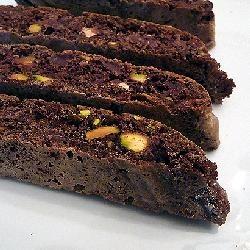 Chocolate Pistachio Nut Biscotti | Just Dessert | Pinterest