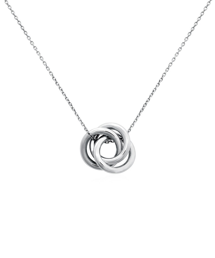 sterling silver infinity knot pendant necklace