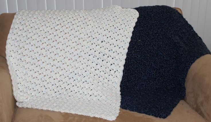 Crochet Quick Blanket : Quick Baby Blanket_e_0SdZ - via @Craftsy Crochet Pinterest