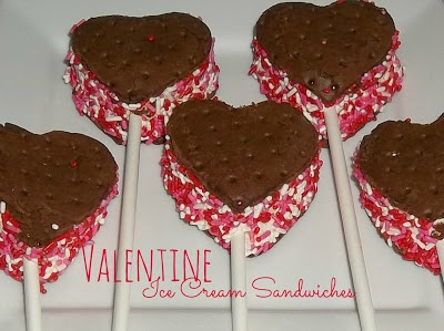 Valentine Ice Cream Sandwiches