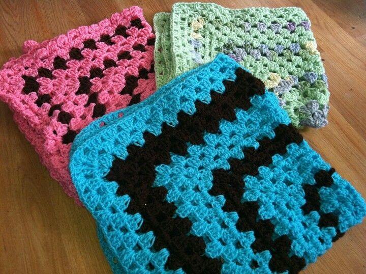 Crochet swaddle size baby blankets Knitting/Crocheting ...