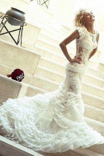 Unique Lace Wedding Dresses : Unique lace wedding dress