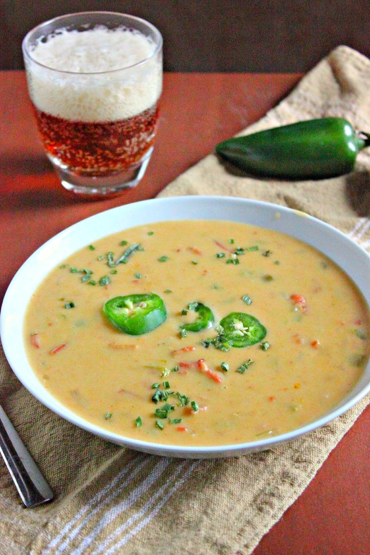 Jalapeno Beer Cheese Soup | Yummy in my tummy | Pinterest