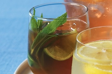 Mint and lime ice tea   Chill'd   Cocktails Wine   Pinterest