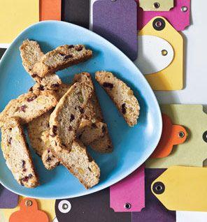 Cranberry-Pistachio Biscotti - 69 calories per cookie, 2.1 g fat (0.5 ...