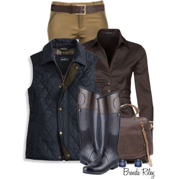 """Quilted Riding Vest"" by brendariley-1 on Polyvore"