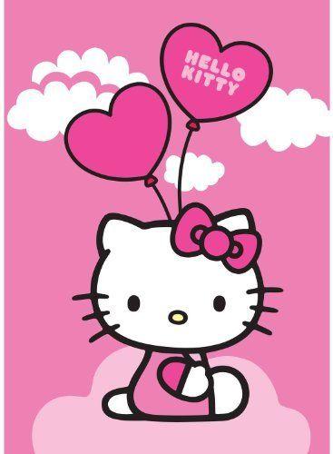 Hello Kitty Balloons Luftballon Ballon Kinderteppich Teppich