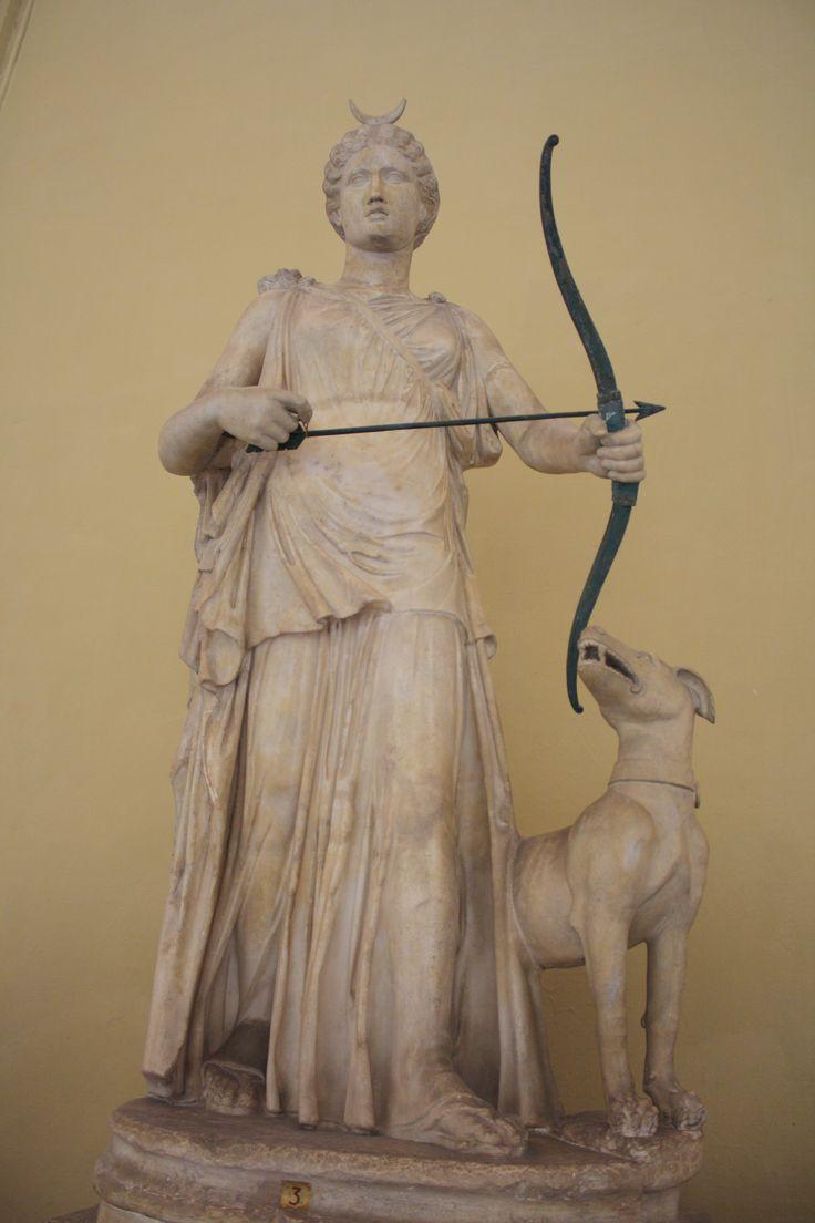 A 2nd century CE Roman statue of the Greek goddess of ...