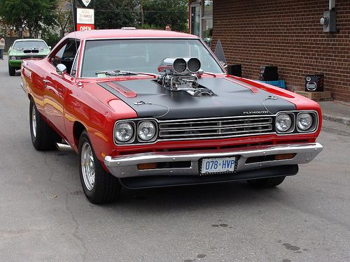 Blown Hemi powered Plymouth Roadrunner