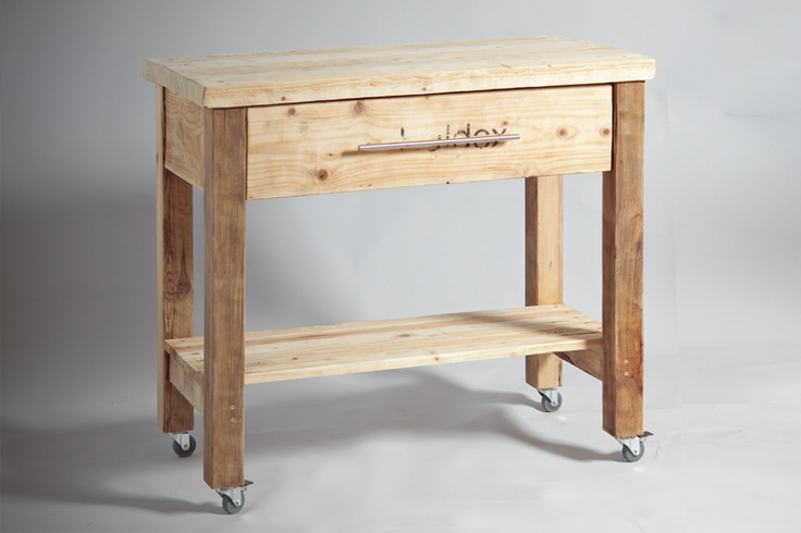 kitchen work table from reclaimed wood