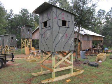 Deer hunting shooting houses hunting pinterest for 4x6 shooting house plans