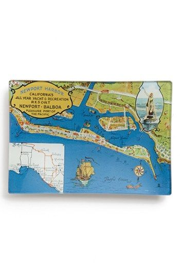 Ben's Garden 'Orange County Map' Tray available at #Nordstrom
