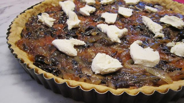 Caramelized onion tart | savory | Pinterest